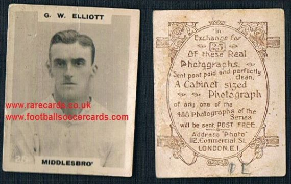 1919 pinnace brown oval back Middlesbrough Elliott 25